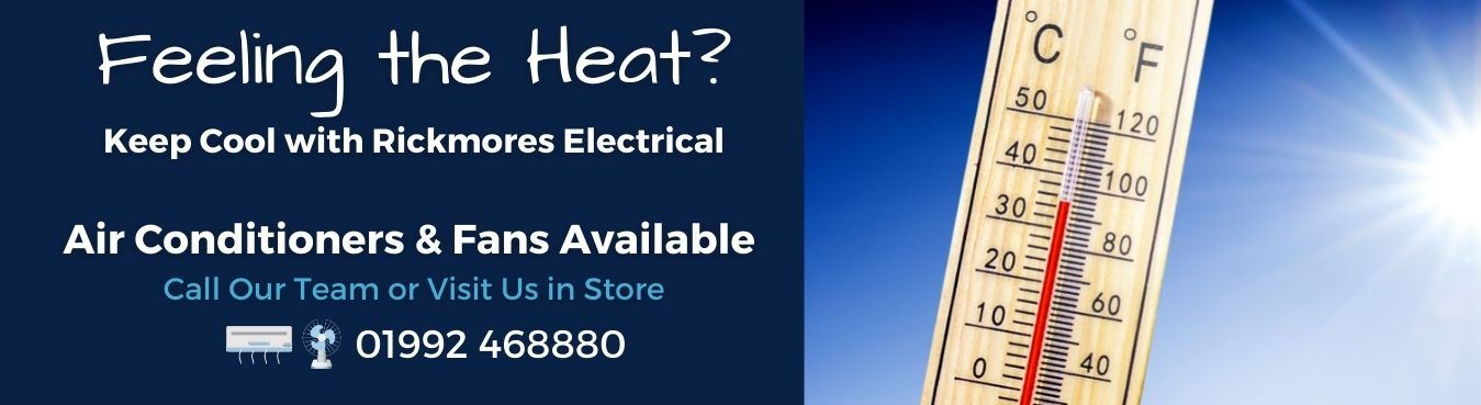 Fans and Air Conditioners Available at Rickmores Electrical